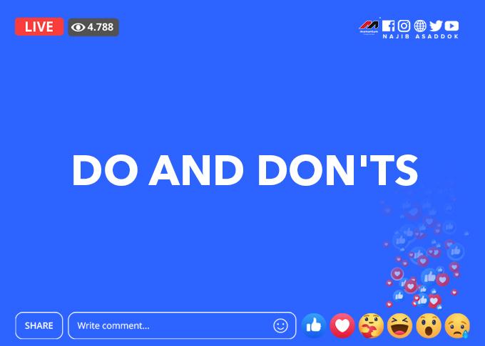 idea nak buat FB live